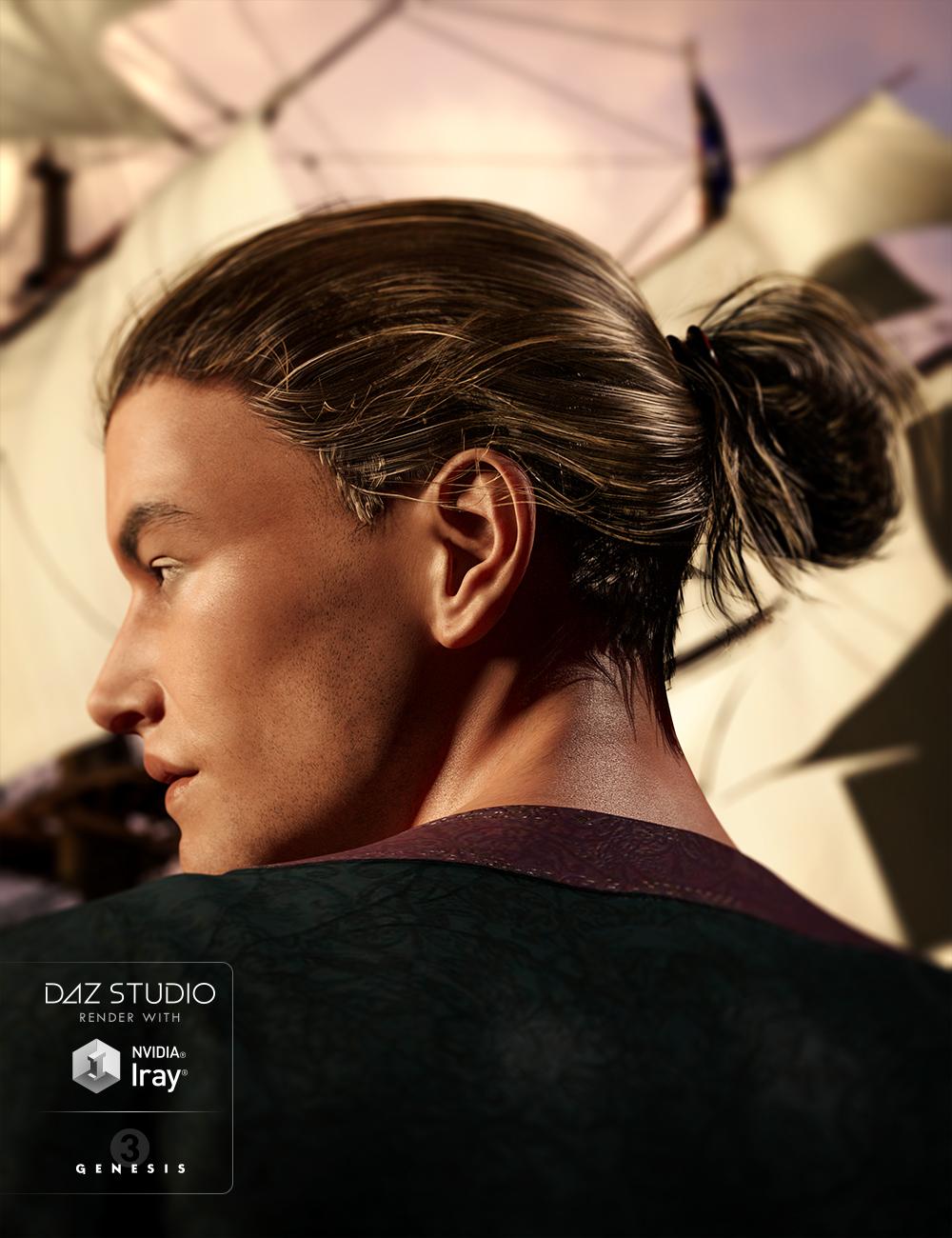 Colin Hair for Genesis 3 Male(s) by: goldtassel, 3D Models by Daz 3D