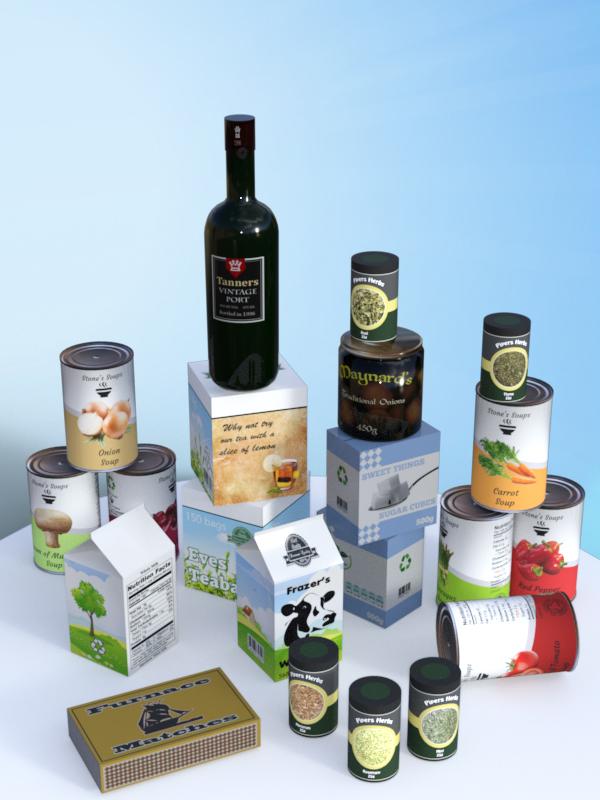 Widdershins Grocery Pack by: , 3D Models by Daz 3D