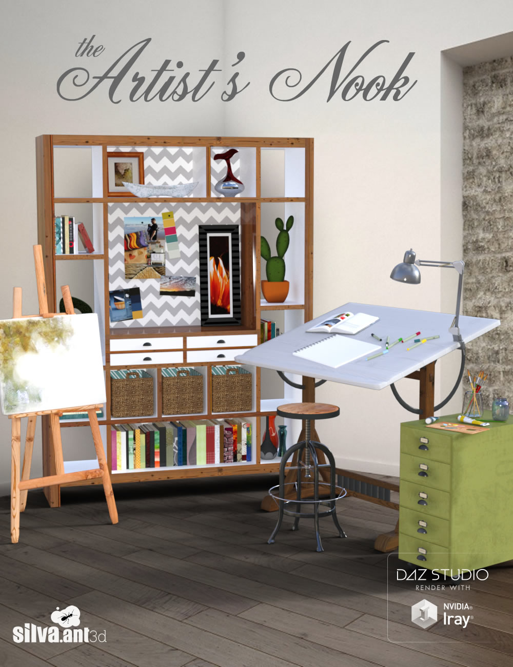 The Artist's Nook by: SilvaAnt3d, 3D Models by Daz 3D
