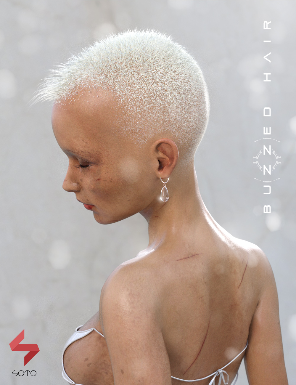 Buzzed Hair for Genesis, Genesis 2, and Genesis 3 by: Soto, 3D Models by Daz 3D