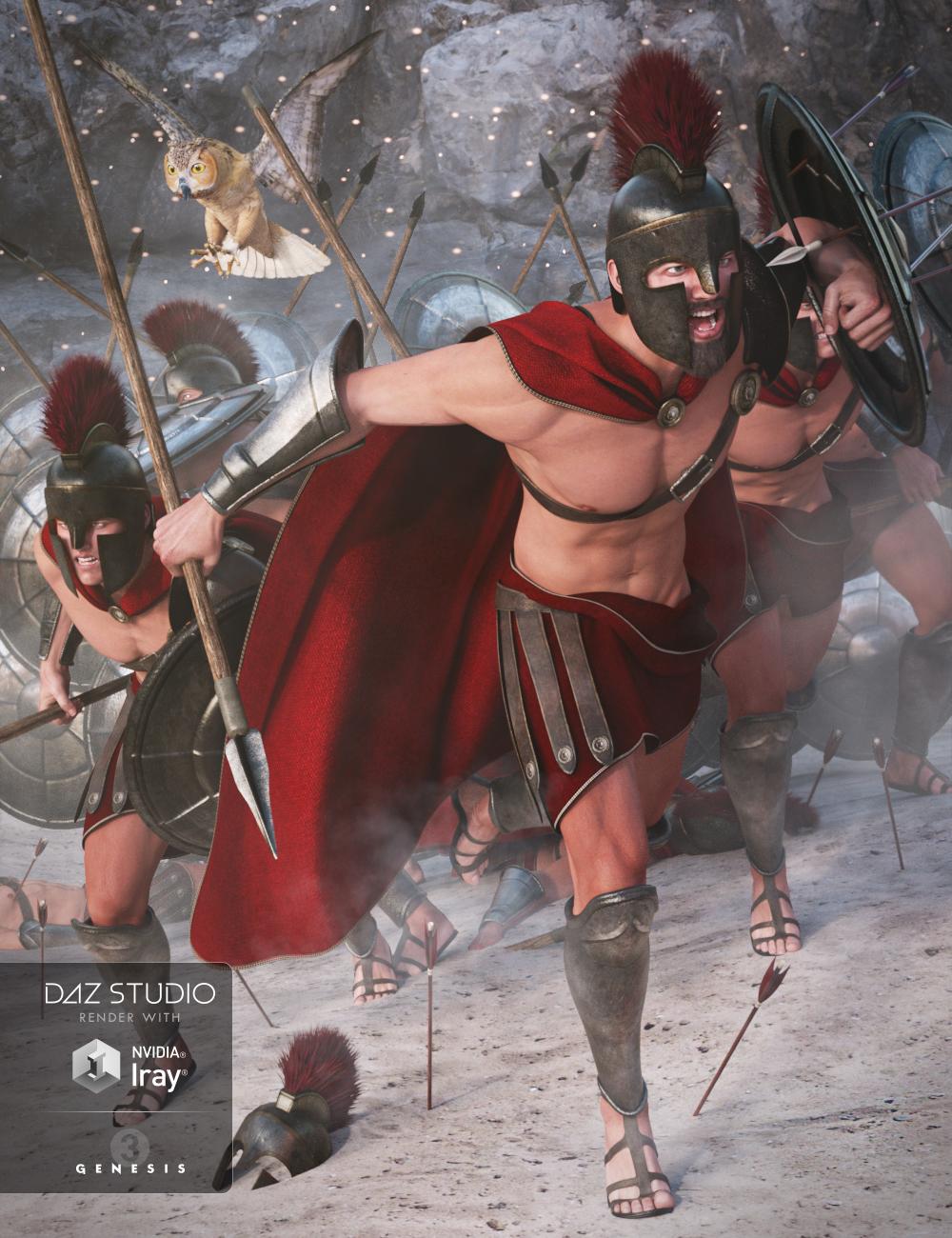 Spartan Warrior for Genesis 3 Male(s) by: NikisatezSarsa, 3D Models by Daz 3D