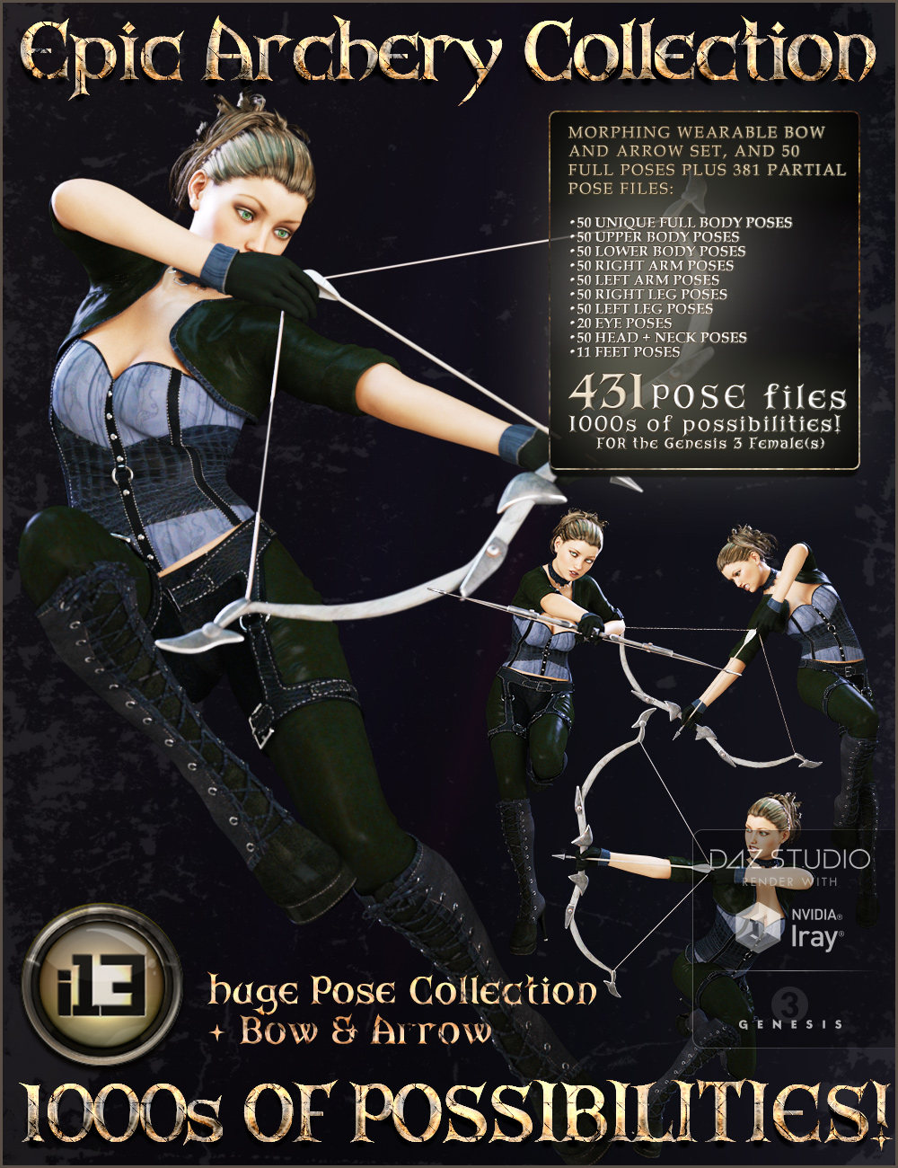 i13 Epic Archery Collection by: ironman13, 3D Models by Daz 3D