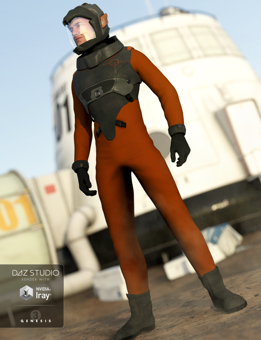 Space Corps for Genesis 3 Male(s) by: Anna BenjaminMada, 3D Models by Daz 3D