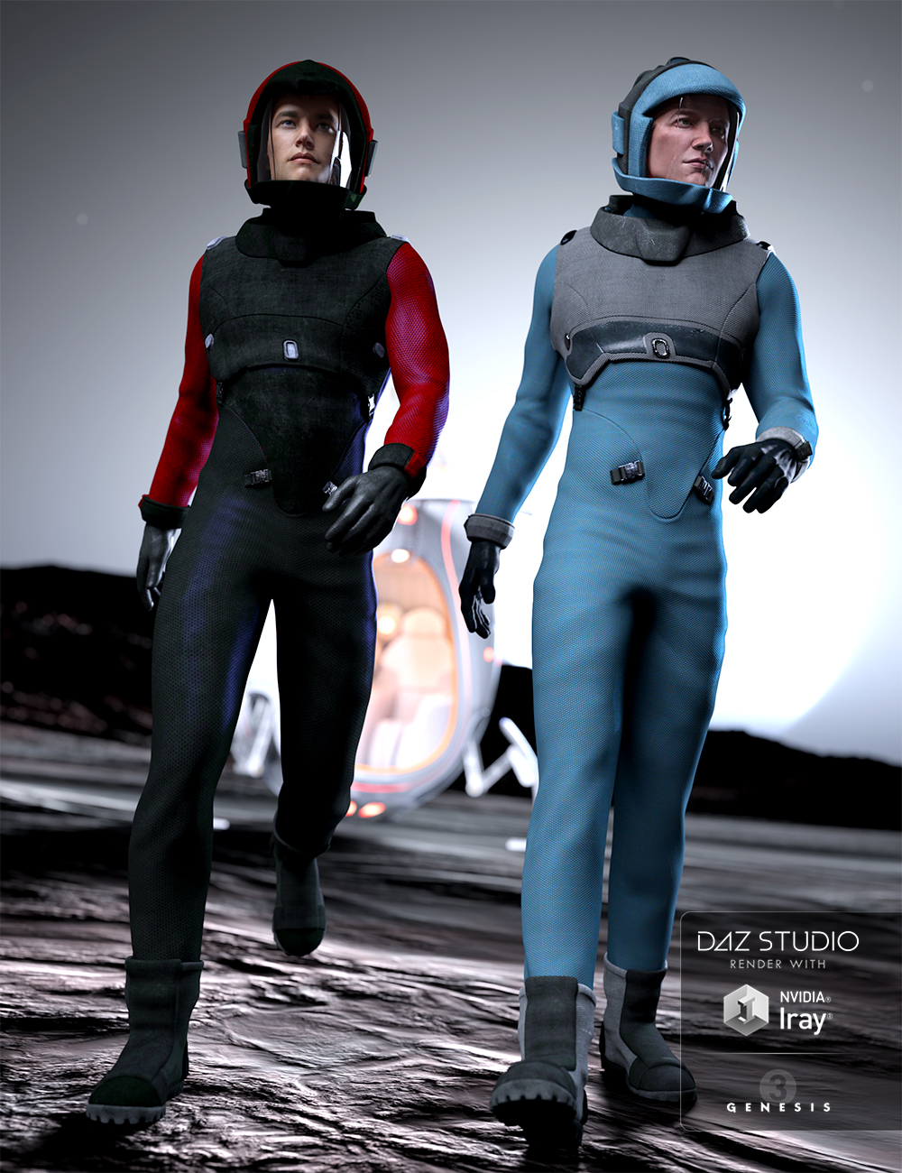 Space Corps Textures by: Anna Benjamin, 3D Models by Daz 3D