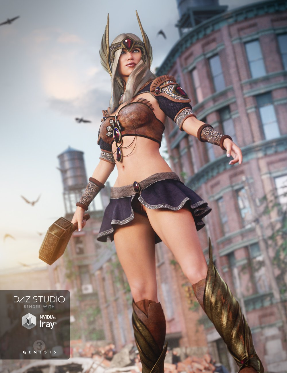 Tears of the Gods Outfit for Genesis 3 Female(s) by: Barbara BrundonSarsa, 3D Models by Daz 3D