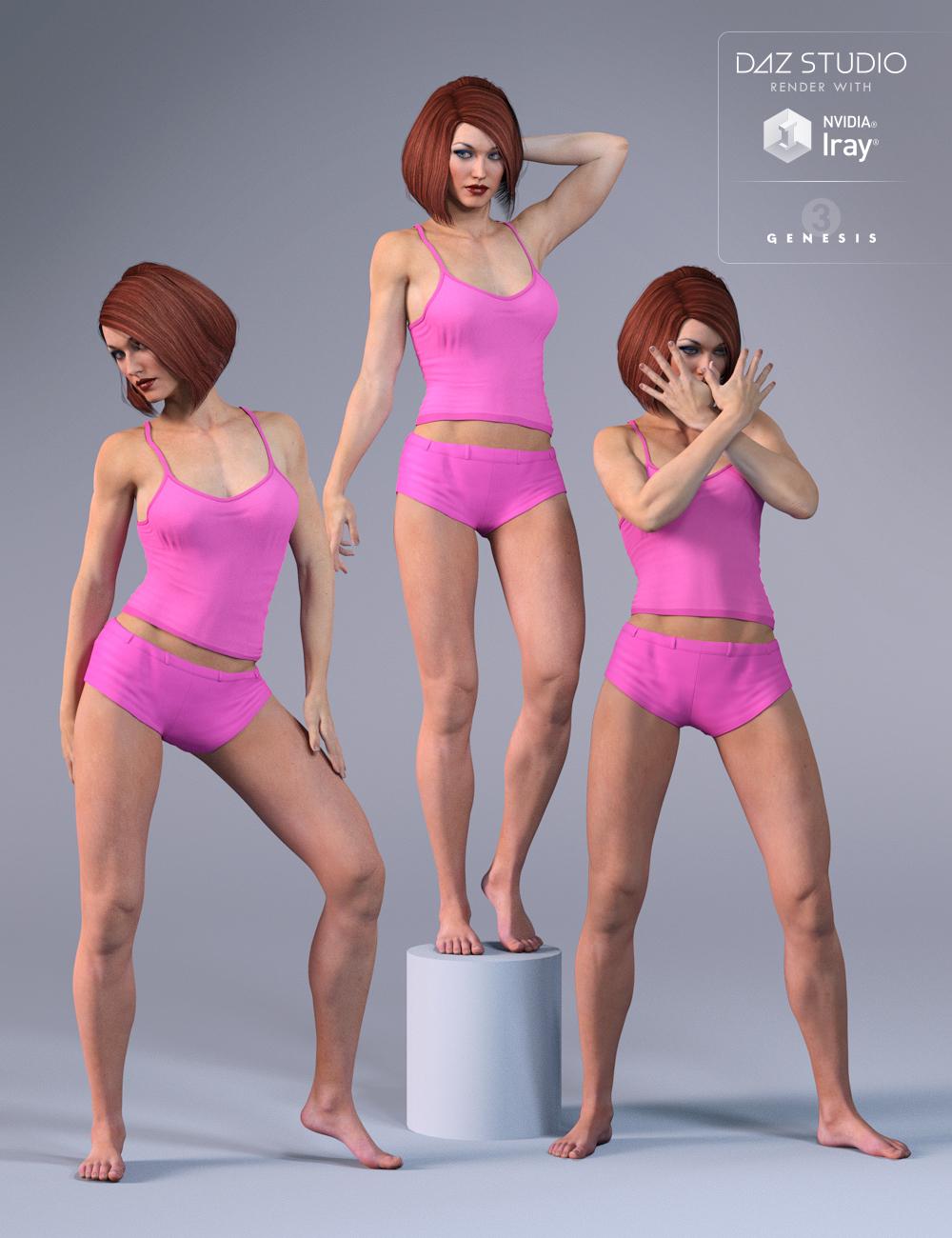 DA Confident Poses for Gia 7 by: Design Anvil, 3D Models by Daz 3D