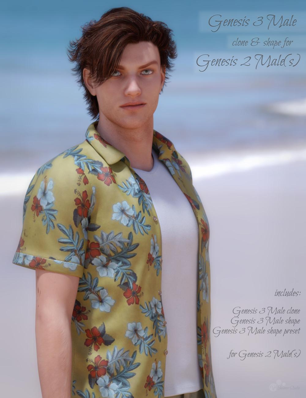 Genesis 3 Male for Genesis 2 Male(s) by: valzheimer, 3D Models by Daz 3D