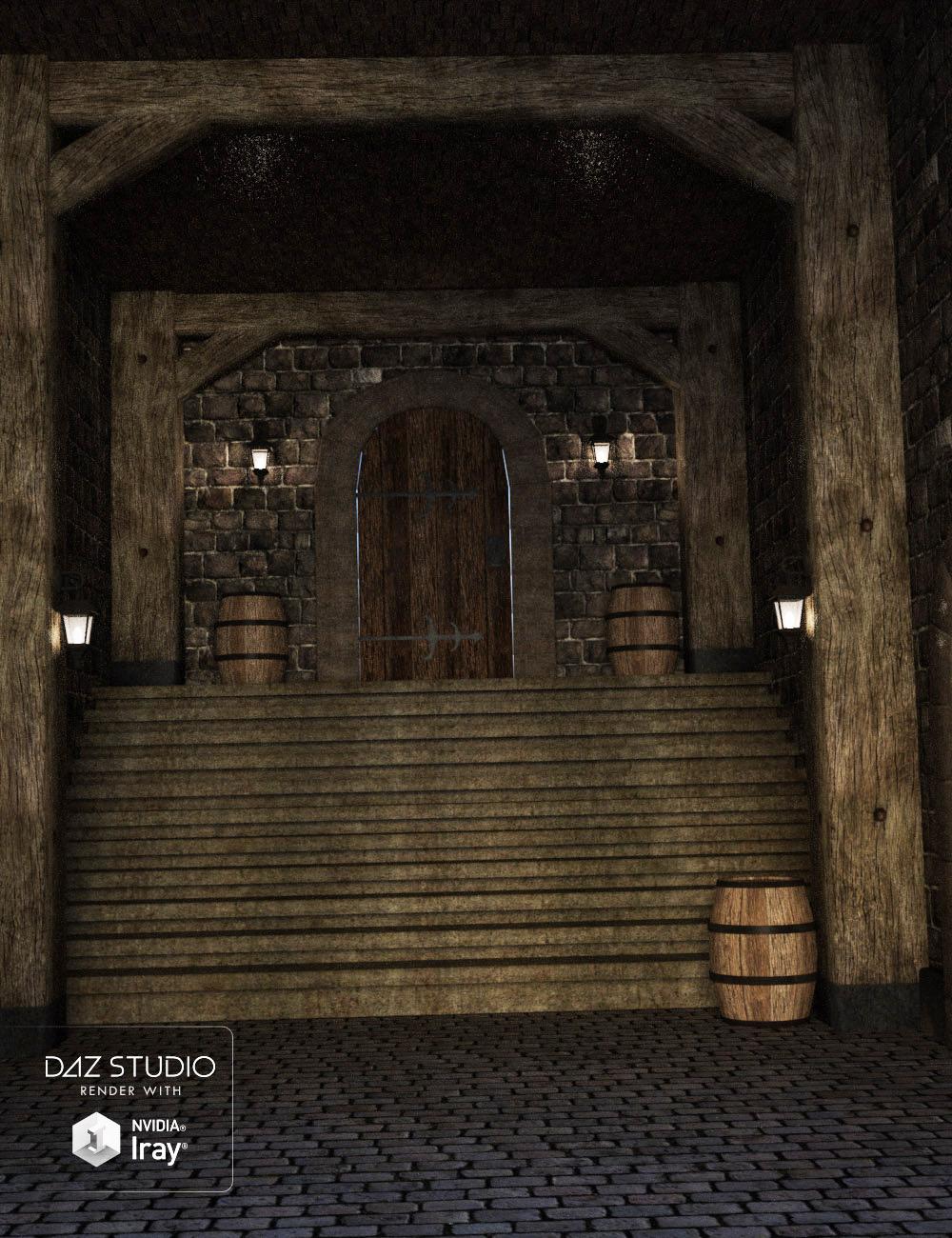 Medieval Inn Corridor by: , 3D Models by Daz 3D