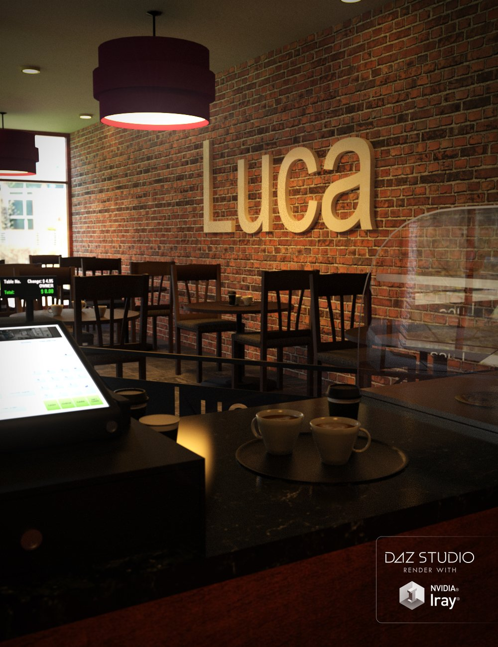 Cafe Luca by: KindredArts, 3D Models by Daz 3D
