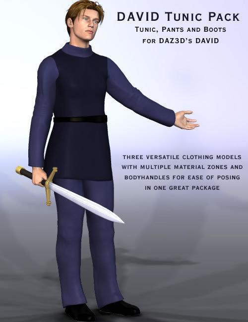 David Tunic Pack by: Lourdes, 3D Models by Daz 3D