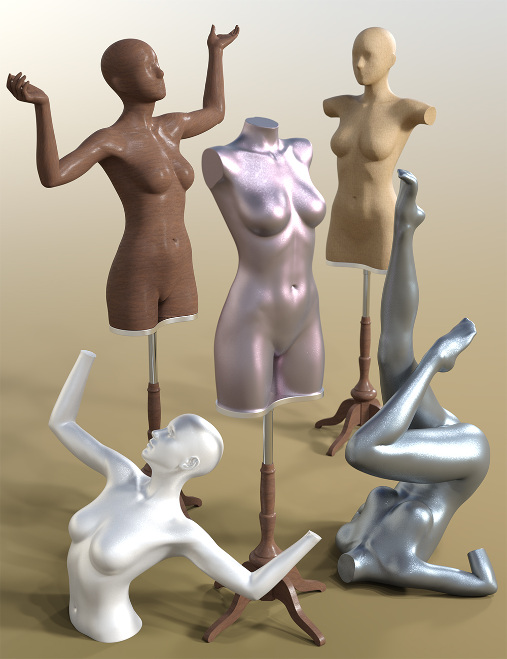 Mannequin for Genesis 3 Female by: , 3D Models by Daz 3D