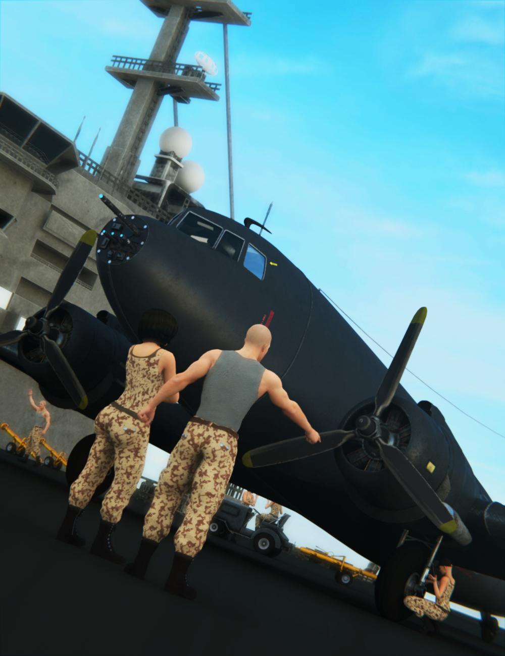 Douglas Cargo Plane by: Mely3D, 3D Models by Daz 3D