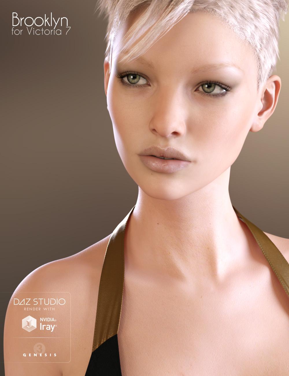 Brooklyn HD for Victoria 7 by: Raiya, 3D Models by Daz 3D
