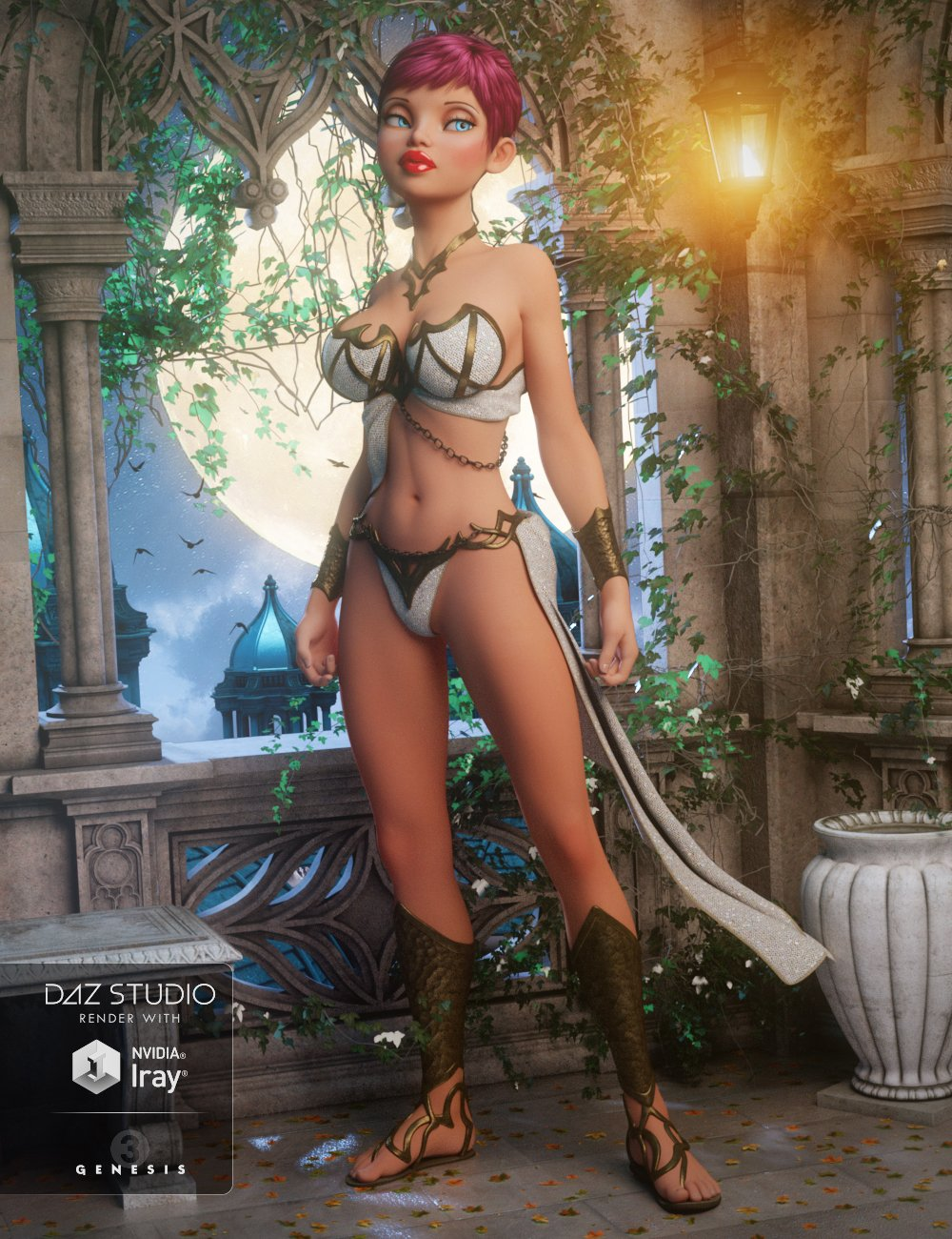 Eternal Outfit for Genesis 3 Female(s) by: NikisatezSarsa, 3D Models by Daz 3D