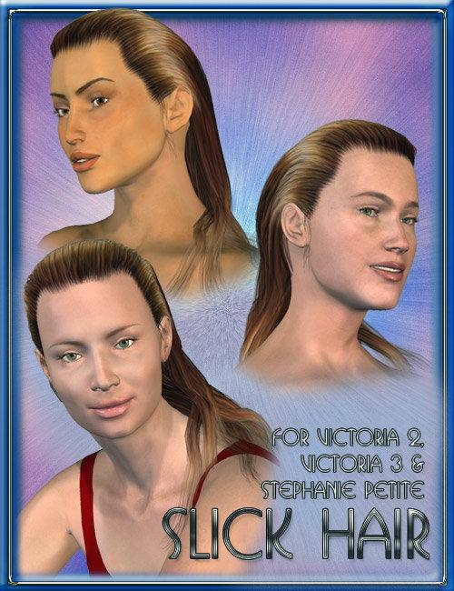 Slick Hair by: 3D Universe, 3D Models by Daz 3D