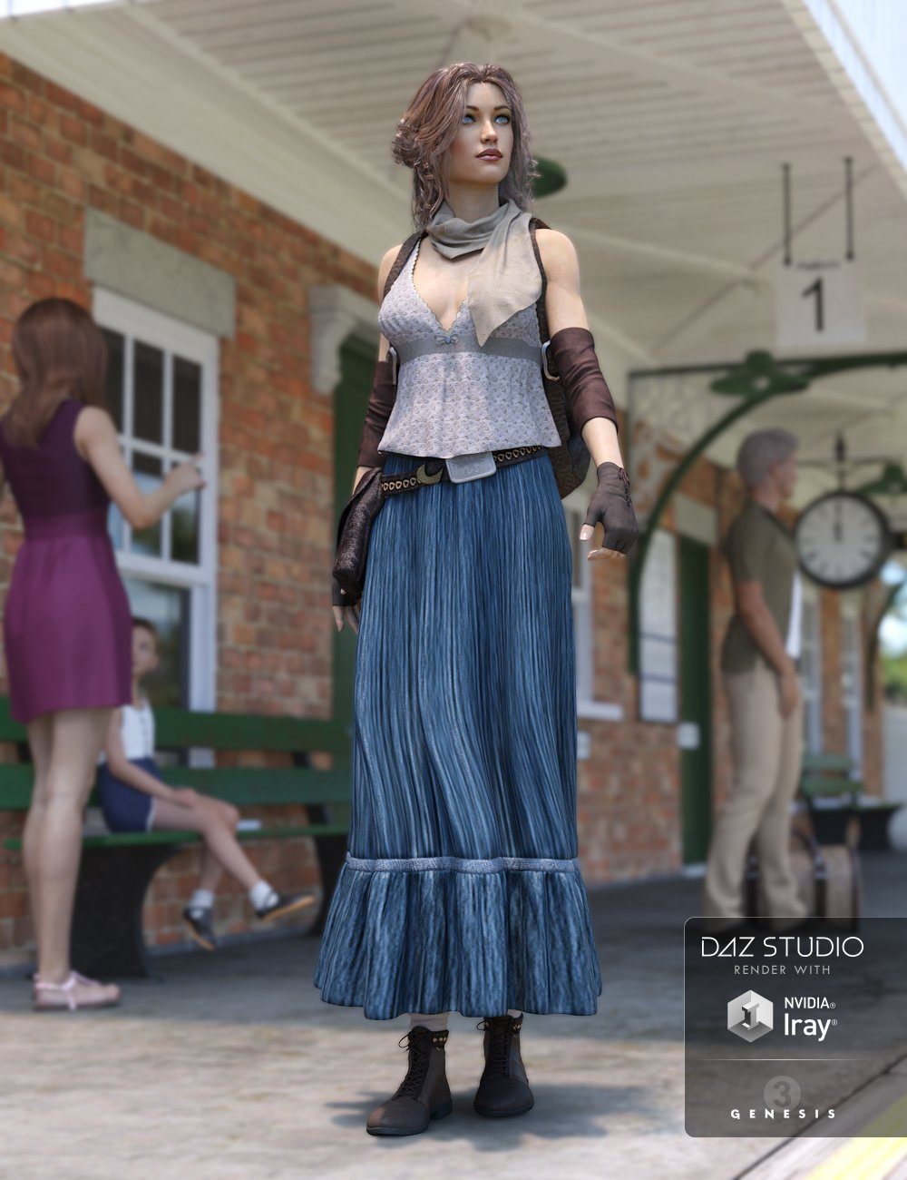Vagabond for Genesis 3 Female(s) by: Ravenhair, 3D Models by Daz 3D