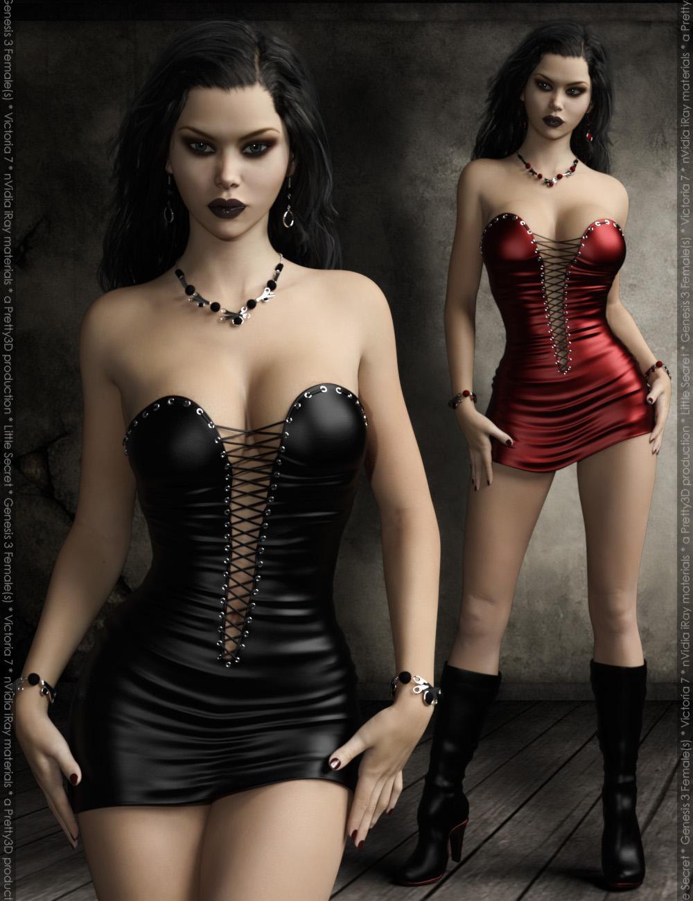 Little Secret for Genesis 3 Female(s) by: Pretty3D, 3D Models by Daz 3D