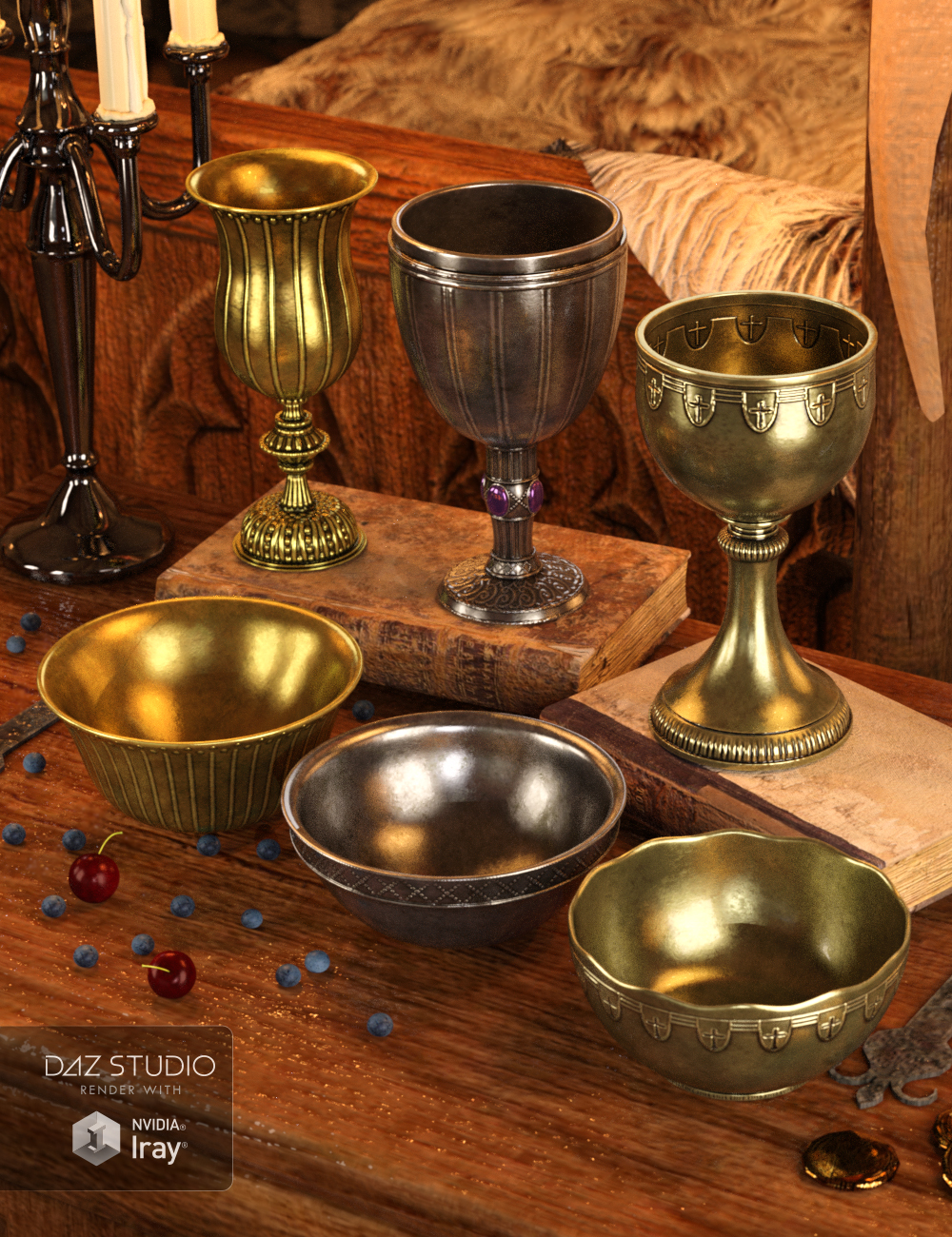 Royal Accessories by: ARTCollab, 3D Models by Daz 3D