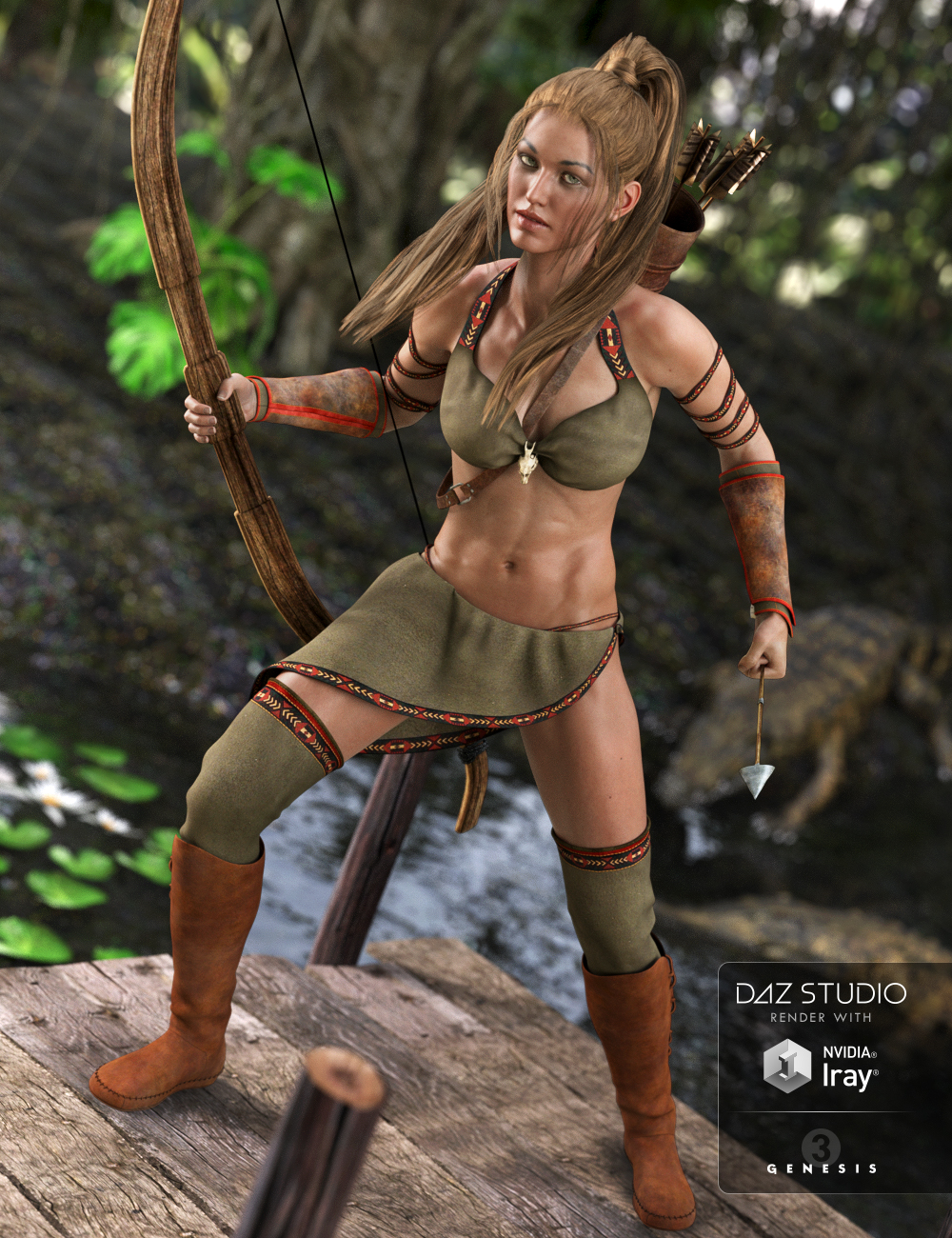 Jungle Goddess for Genesis 3 Female(s) by: Bluebird 3D ClothingSarsa, 3D Models by Daz 3D