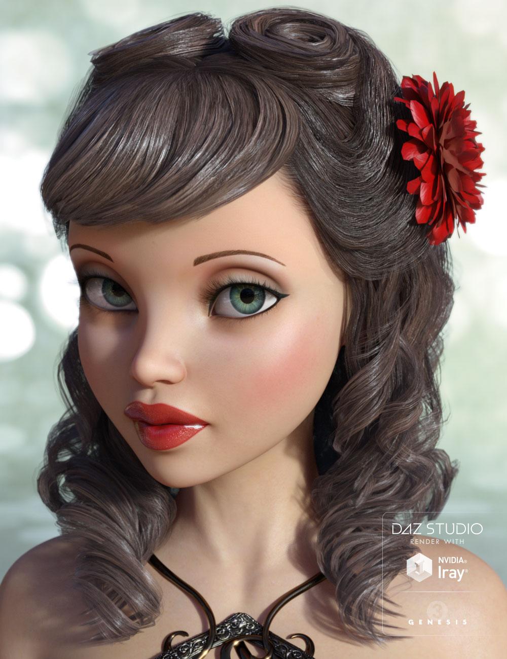 Sheridan Hair by: AprilYSH, 3D Models by Daz 3D