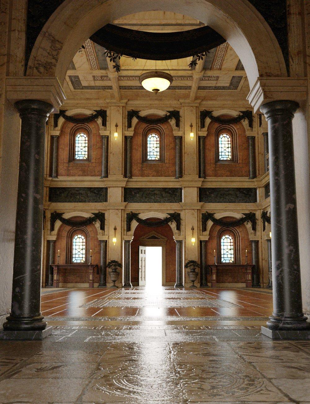 Borgia's Opulent Hall by: The Management, 3D Models by Daz 3D