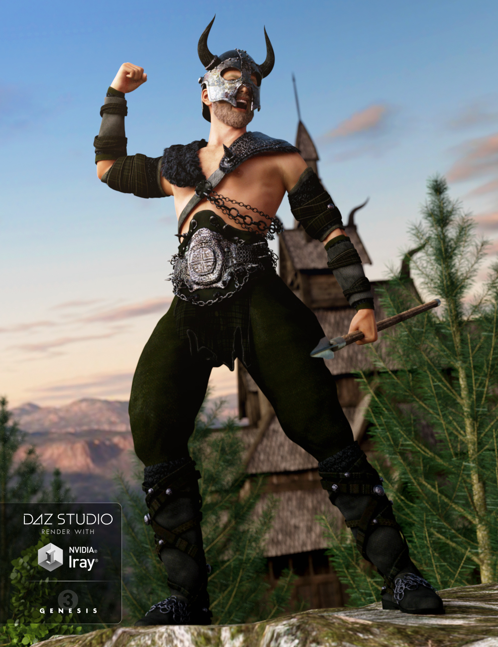 Norseman for Genesis 3 Male(s) by: Anna BenjaminBarbara Brundon, 3D Models by Daz 3D