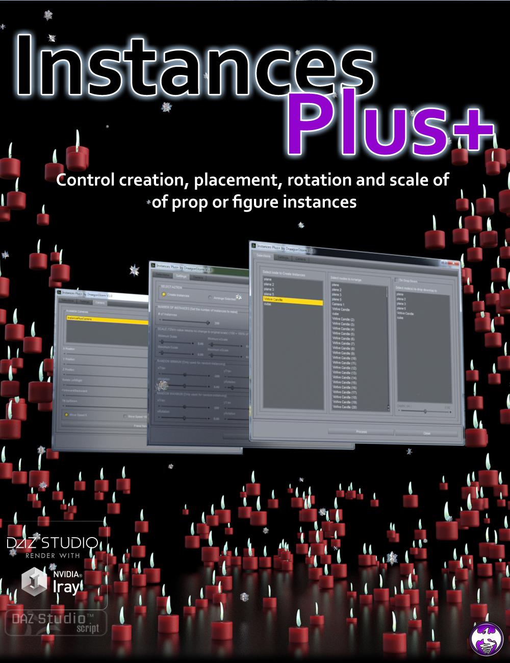 Instances Plus+ for Daz Studio by: DraagonStorm, 3D Models by Daz 3D