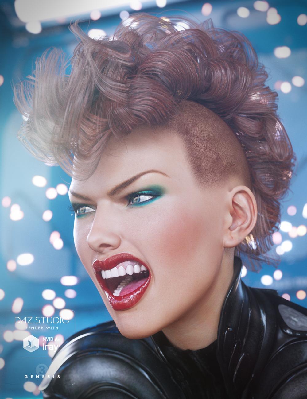 Gothic Hair for Genesis 3 Female(s) by: goldtassel, 3D Models by Daz 3D