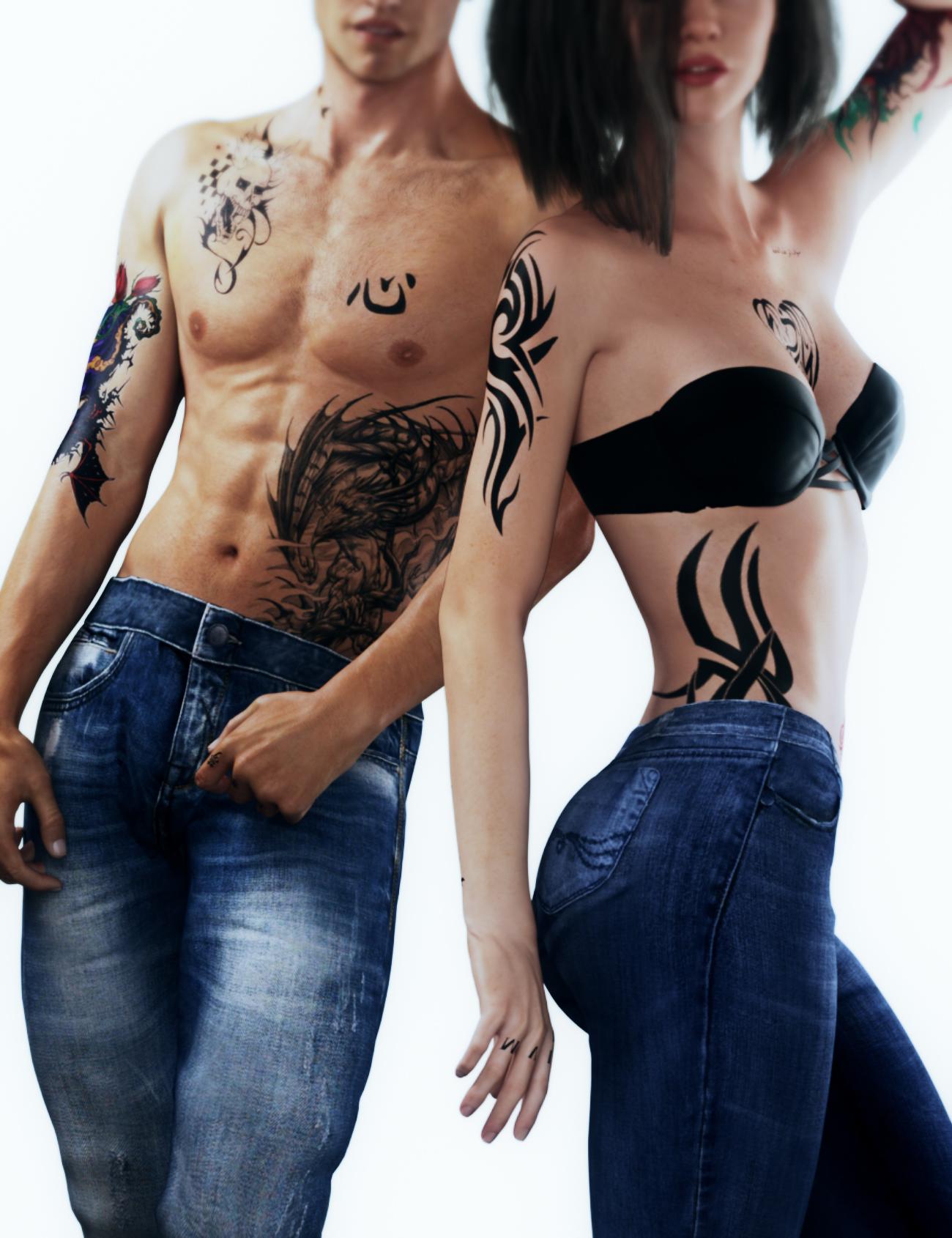 Tattoo Bundle by: Neikdian, 3D Models by Daz 3D