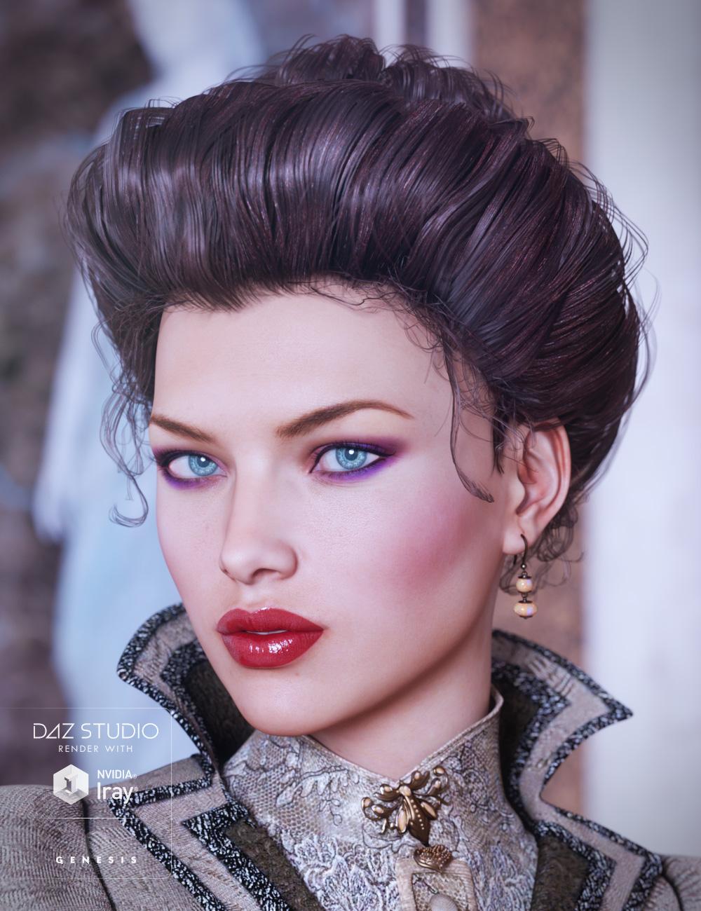 Edwardian Hair for Genesis 3 Female(s) by: goldtassel, 3D Models by Daz 3D