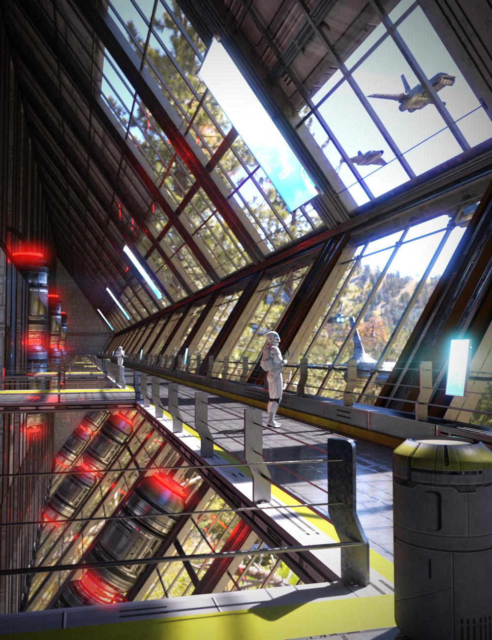 Sci-Fi Bastion by: KindredArts, 3D Models by Daz 3D
