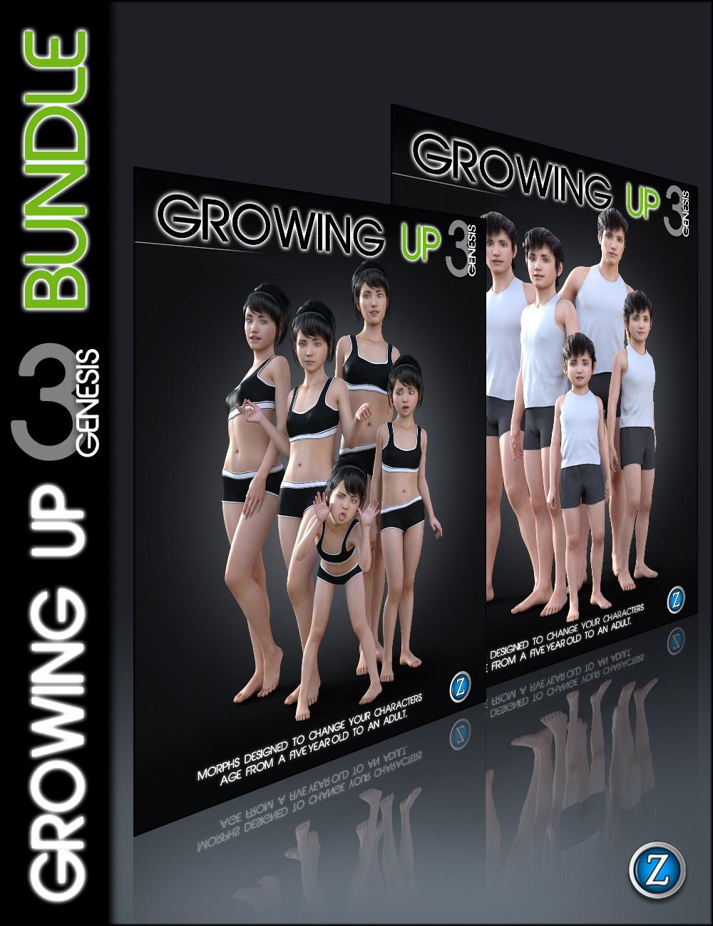 Growing Up for Genesis 3 Bundle by: Zev0, 3D Models by Daz 3D