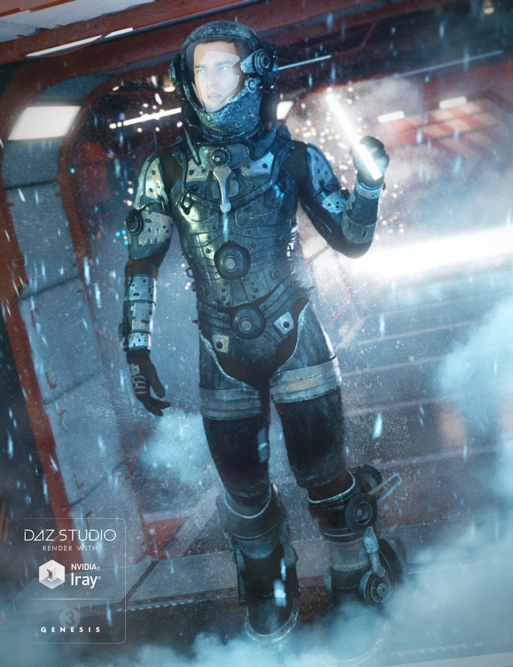 EXO Suit for Genesis 3 Male(s) by: Anna BenjaminBarbara Brundon, 3D Models by Daz 3D