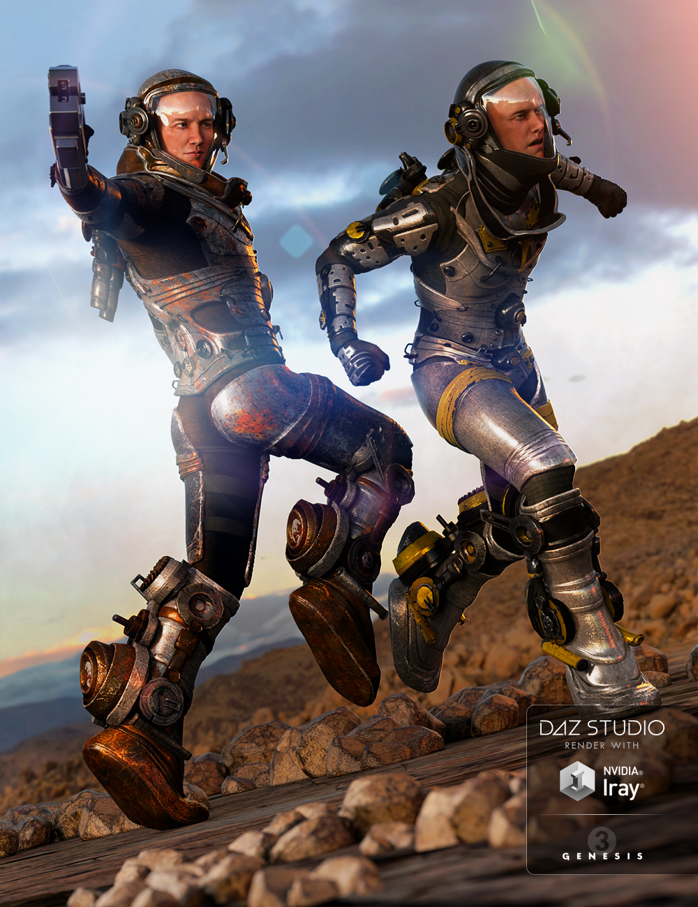 EXO Suit Male Textures by: Anna Benjamin, 3D Models by Daz 3D