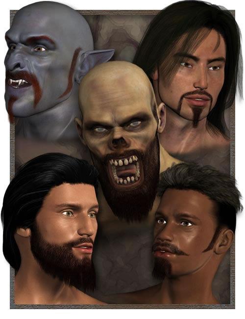 Millennium Beard Bundle by: , 3D Models by Daz 3D