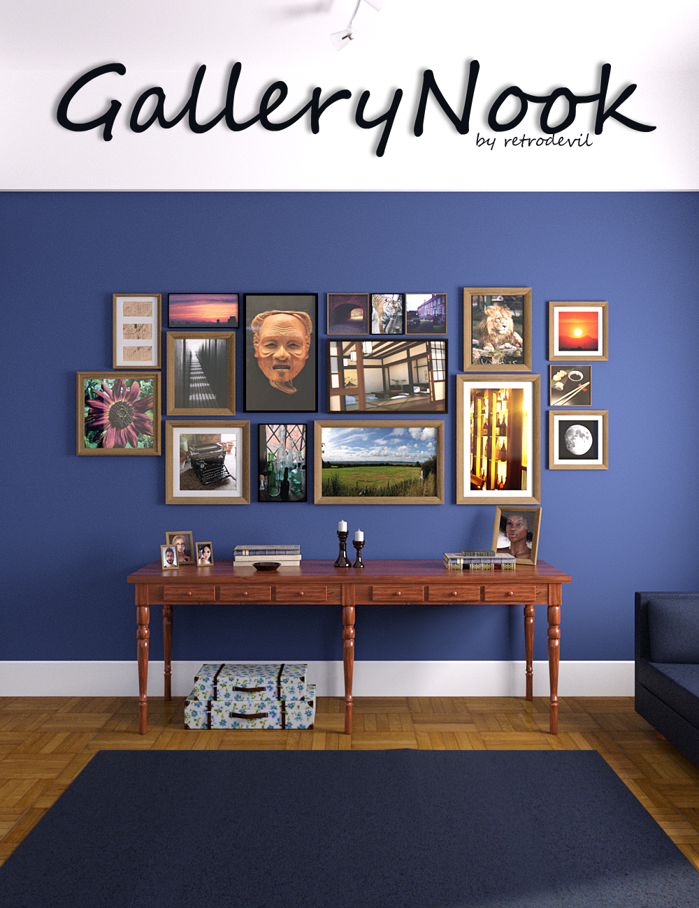 The Gallery Nook by: Moonscape Graphics, 3D Models by Daz 3D