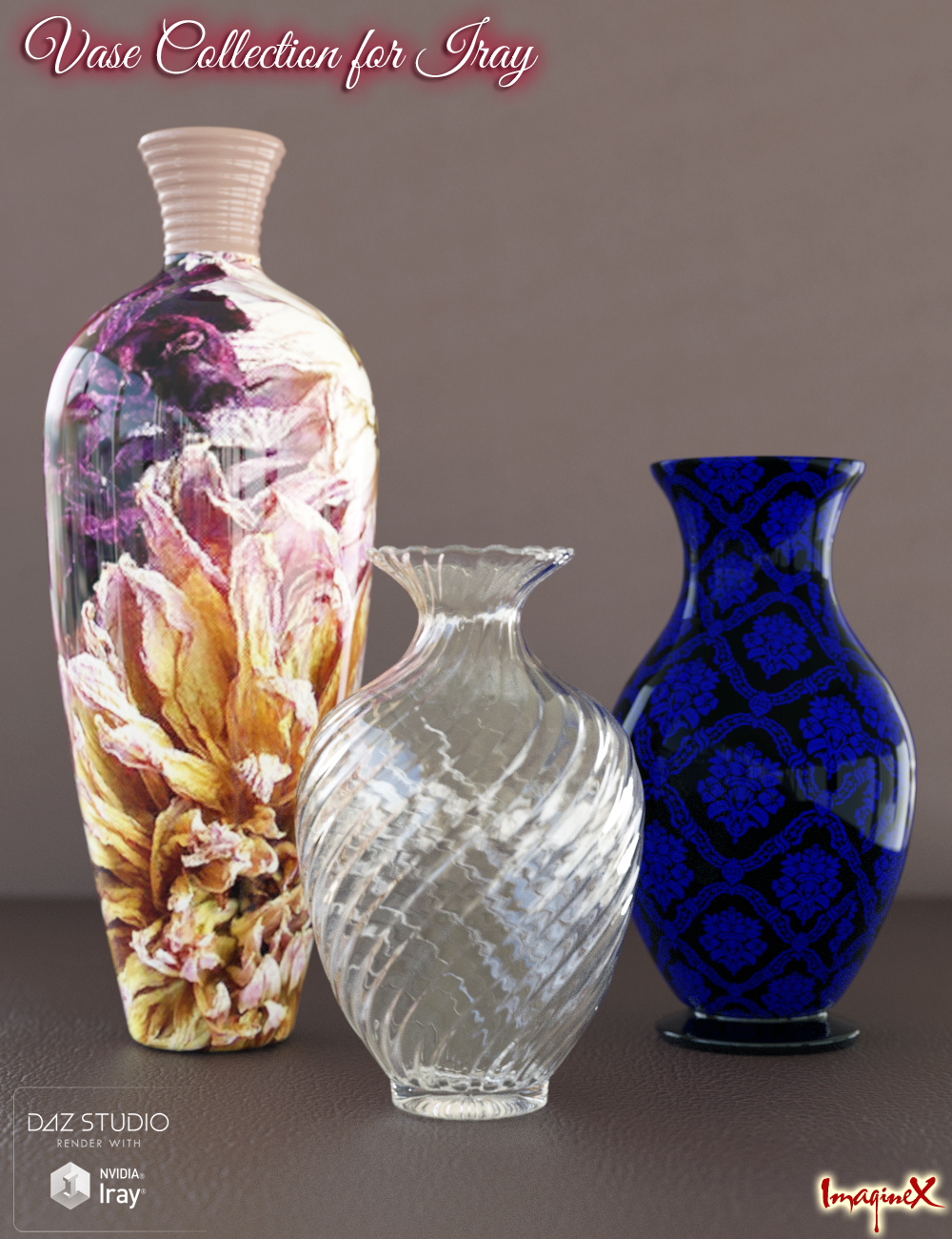Vase Collection for Iray by: , 3D Models by Daz 3D