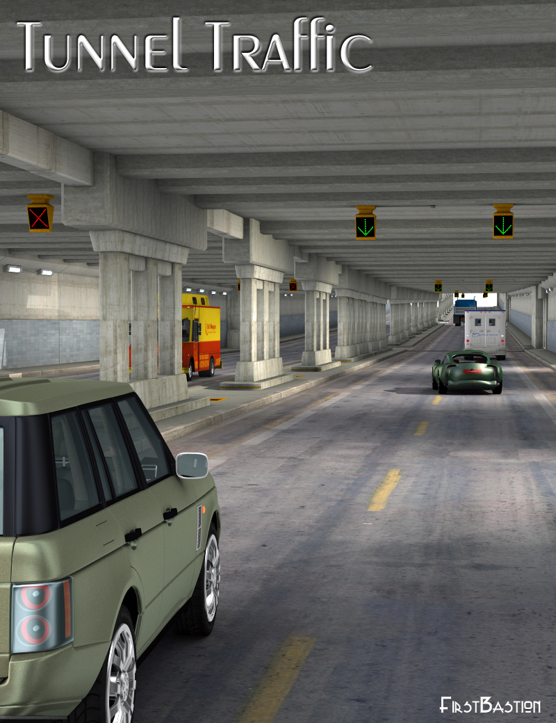 Tunnel Traffic by: FirstBastion, 3D Models by Daz 3D