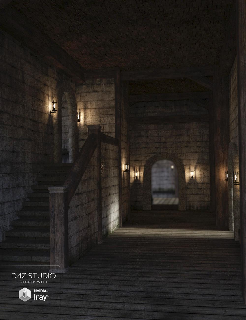 Castle Hallway by: , 3D Models by Daz 3D