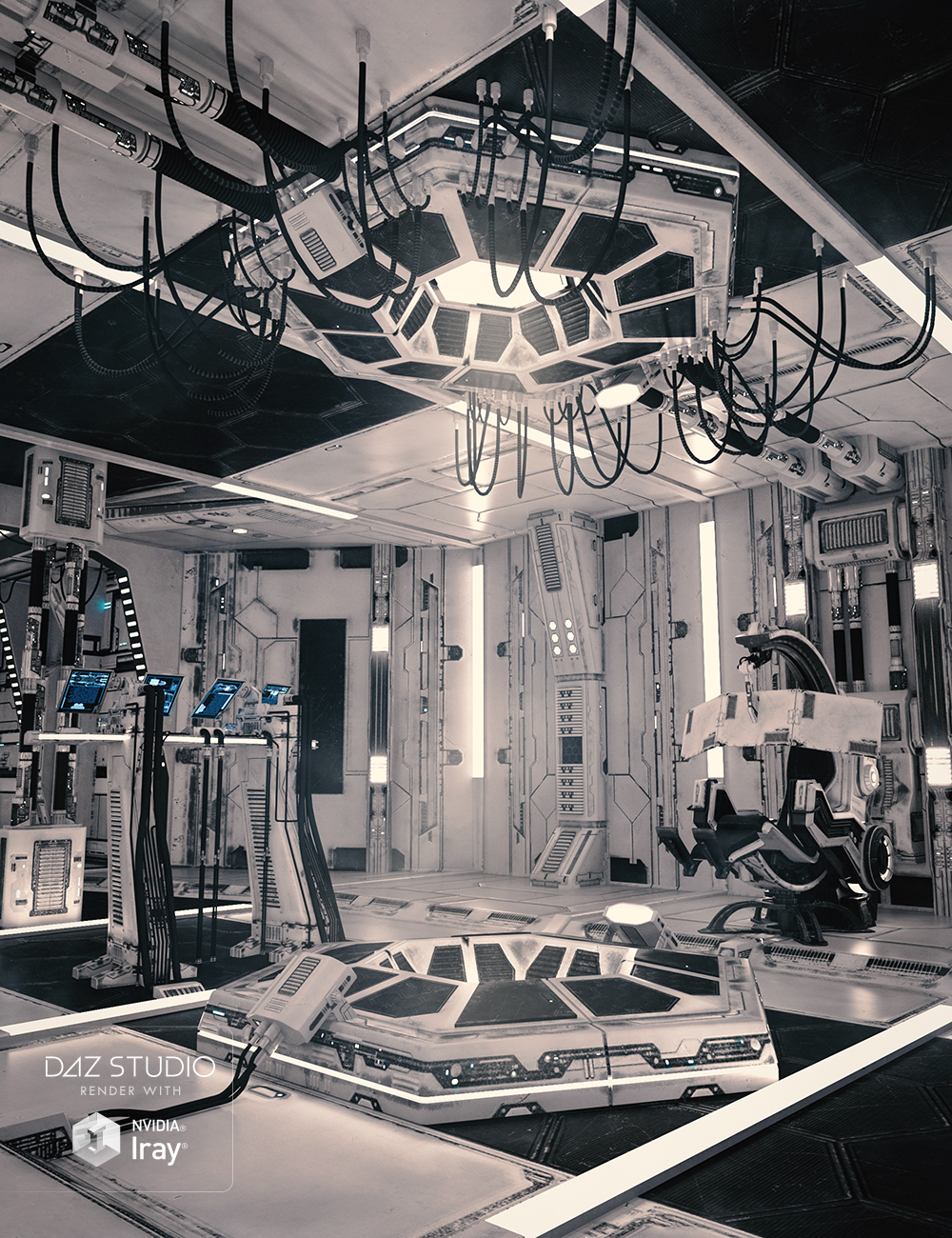SS Marcoor Control Room by: Ravnheart, 3D Models by Daz 3D