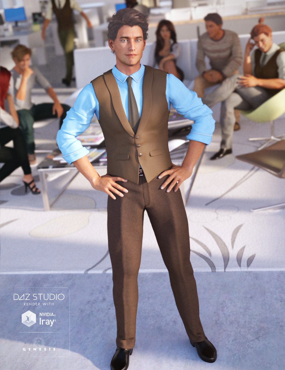 Casual Style for Genesis 3 Male(s) by: Ravenhair, 3D Models by Daz 3D