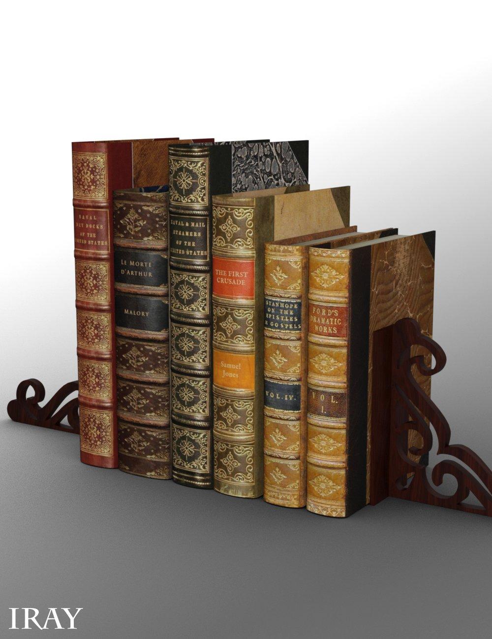 Widdershins Old Books by: , 3D Models by Daz 3D