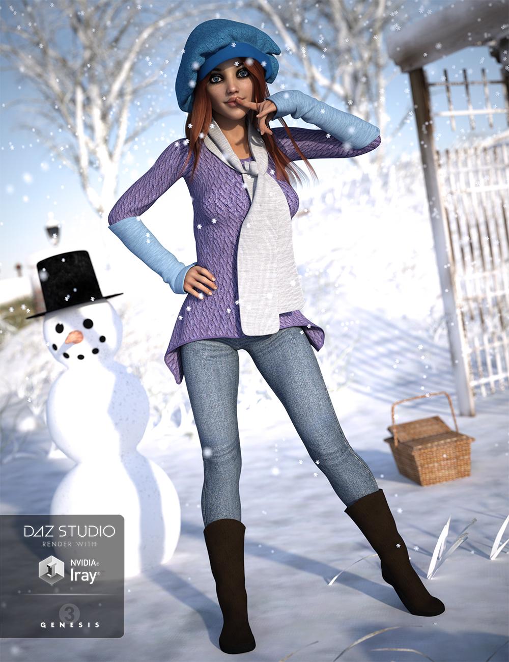 Frosty Winter Genesis 3 Female(s) by: Bluebird 3D ClothingOziChick, 3D Models by Daz 3D