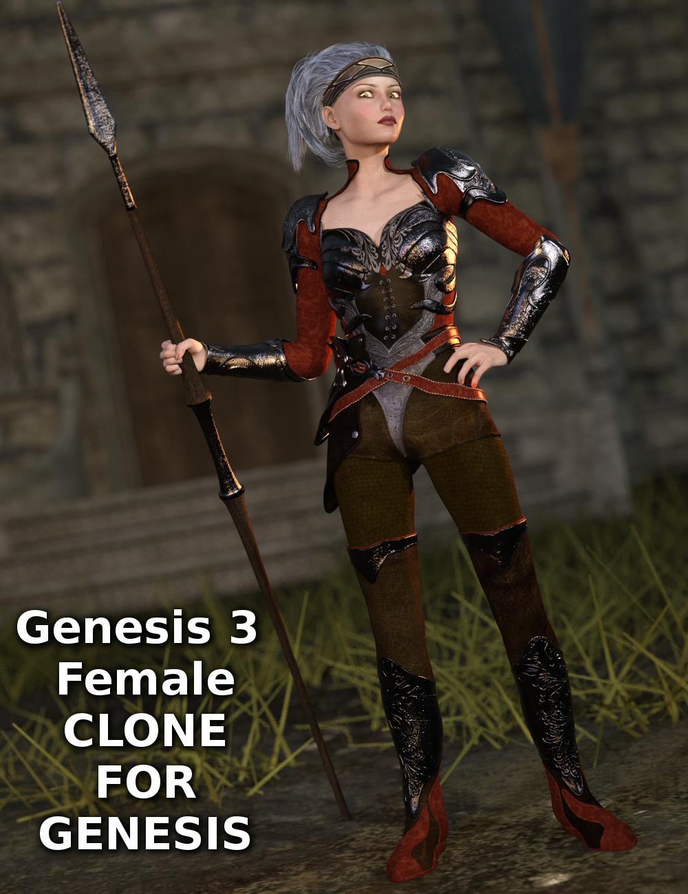 Genesis 3 Female Clone for Genesis by: Sickleyield, 3D Models by Daz 3D