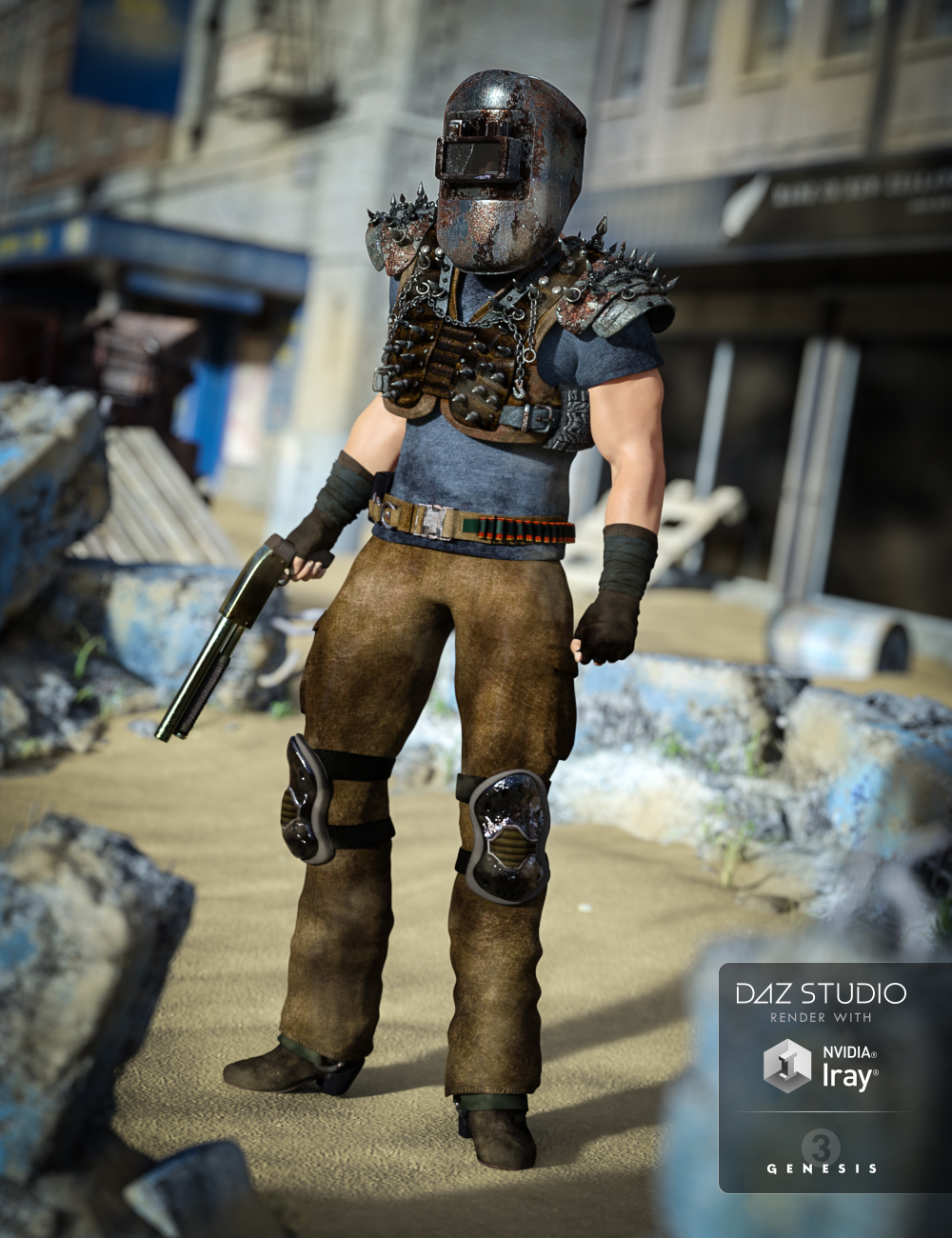 Wastelander for Genesis 3 Male(s) by: Anna BenjaminBarbara Brundon, 3D Models by Daz 3D