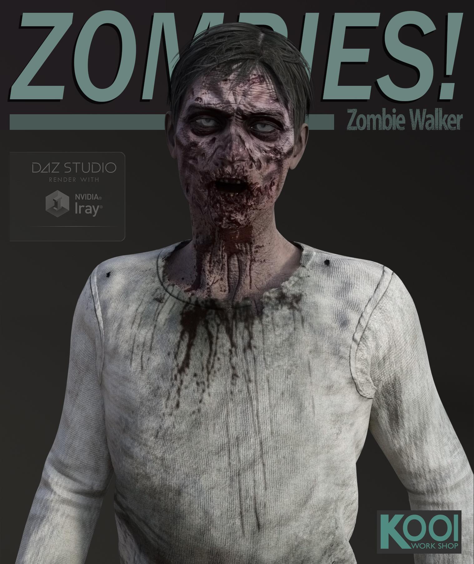Zombie Walker by: Kool, 3D Models by Daz 3D