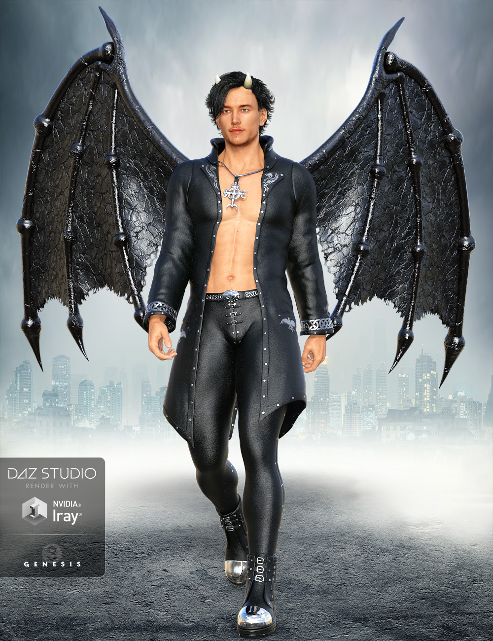 Universal Demon Wings Expansion Pack by: midnight_stories, 3D Models by Daz 3D