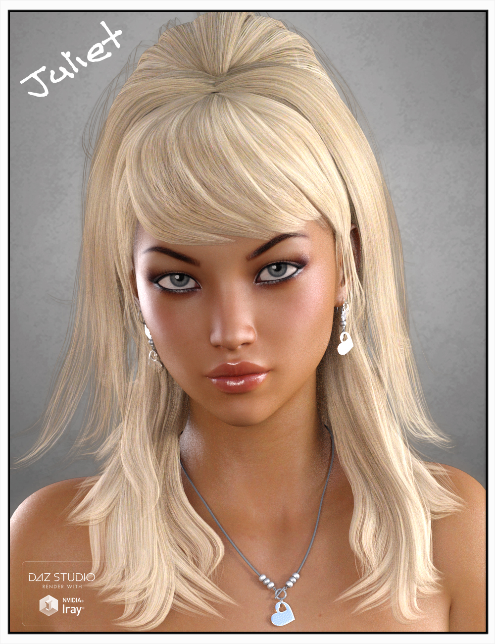 Juliet Hair for Genesis 3 Female(s), Genesis 2 Female(s) and Victoria 4 by: SWAM, 3D Models by Daz 3D