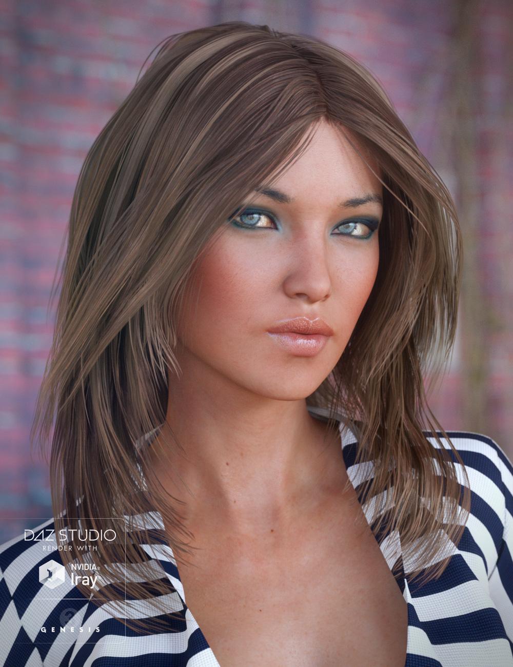 Flirty Hair for Genesis 3 Female(s) by: goldtassel, 3D Models by Daz 3D