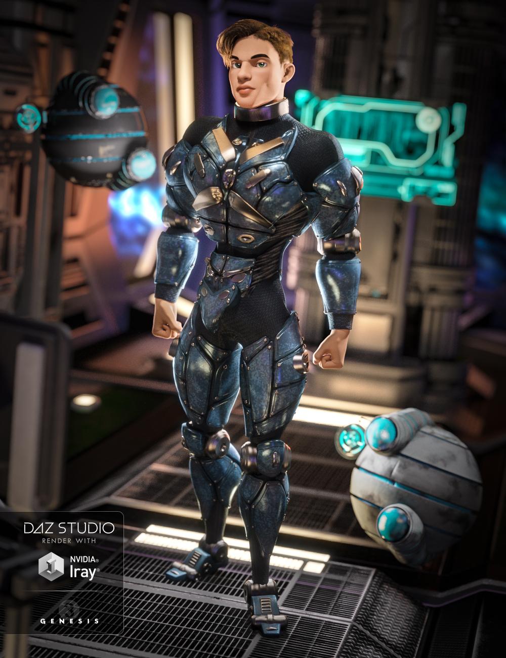 Cyber Soldier for Genesis 3 Male(s) by: NikisatezArien, 3D Models by Daz 3D